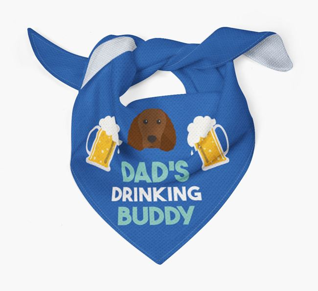 'Dad's Drinking Buddy' Bandana with American Water Spaniel Icon