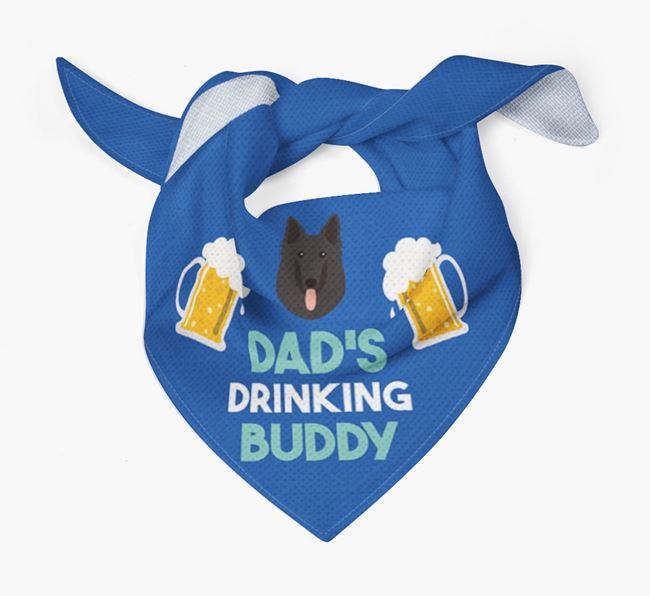 'Dad's Drinking Buddy' Bandana with Belgian Groenendael Icon