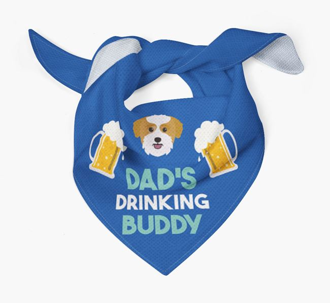 'Dad's Drinking Buddy' Bandana with Bichon Yorkie Icon