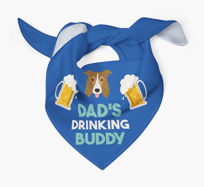 'Dad's Drinking Buddy' Bandana with Border Collie Icon