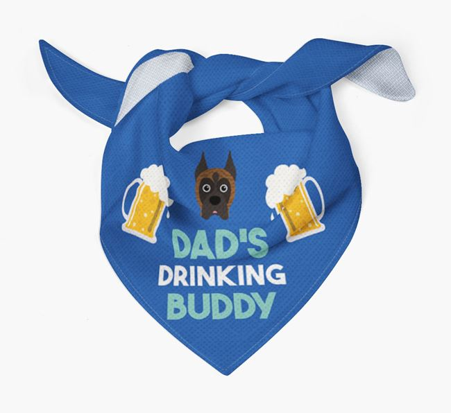 'Dad's Drinking Buddy' Bandana with Boxer Icon