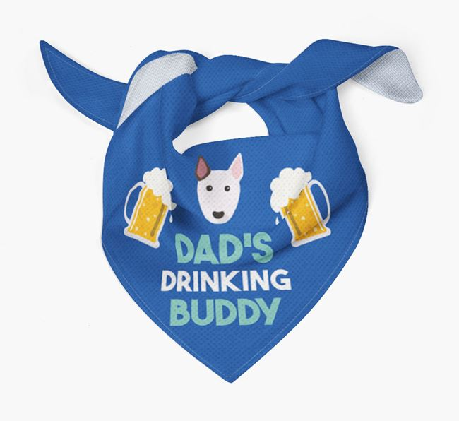 'Dad's Drinking Buddy' Bandana with Bull Terrier Icon