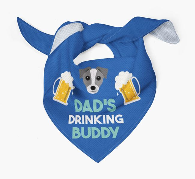 'Dad's Drinking Buddy' Bandana with Chi Staffy Bull Icon