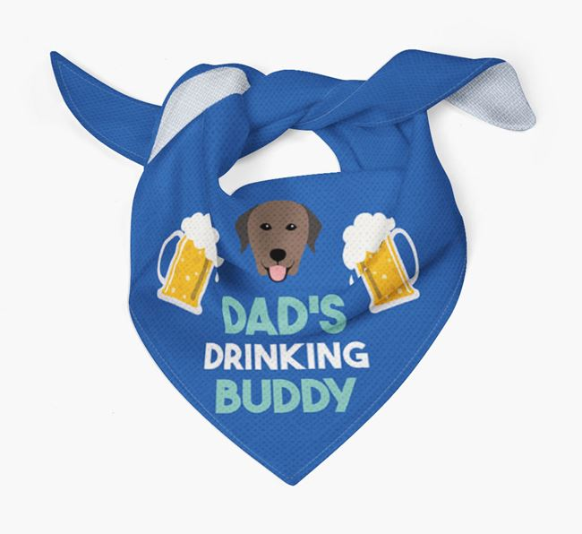 'Dad's Drinking Buddy' Bandana with Curly Coated Retriever Icon