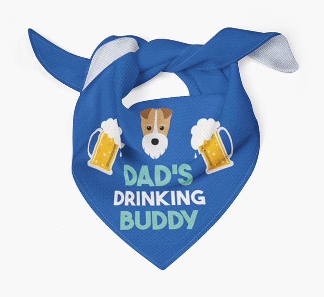 'Dad's Drinking Buddy' Bandana with Fox Terrier Icon