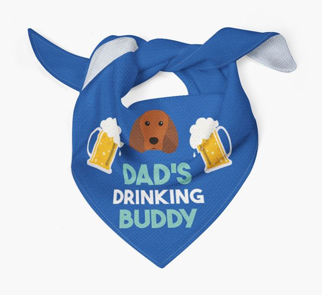 'Dad's Drinking Buddy' Bandana with Irish Water Spaniel Icon