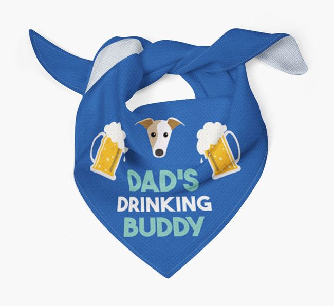 'Dad's Drinking Buddy' Bandana with Whippet Icon