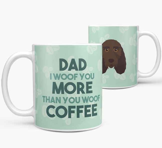 'Dad I woof you more than you woof coffee' Mug with Grand Basset Griffon Vendeen Icon