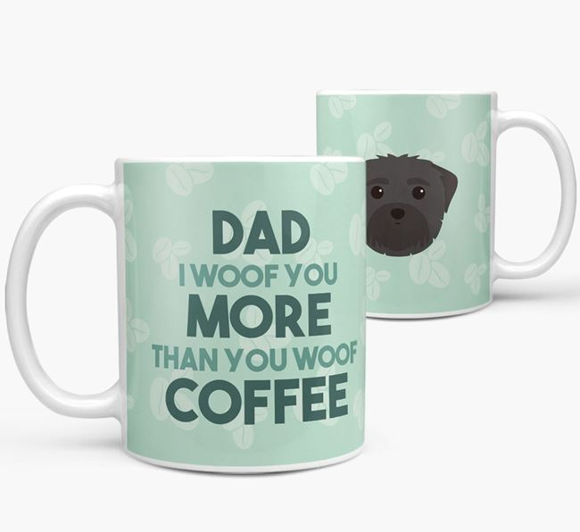 'Dad I woof you more than you woof coffee' Mug with Maltese Icon