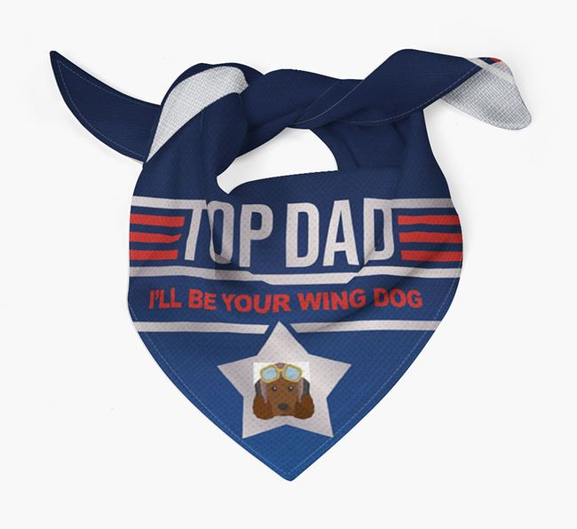'Top Dad' Bandana with American Water Spaniel Icon