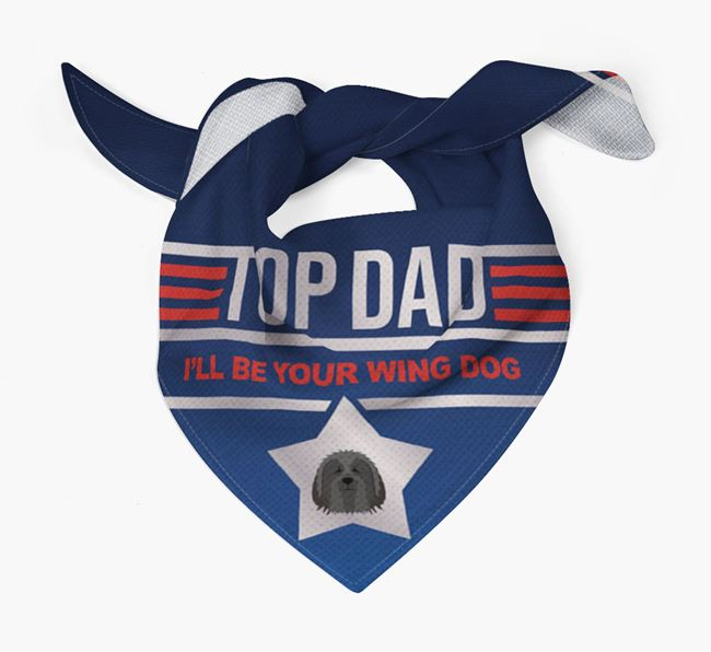 'Top Dad' Bandana with Bearded Collie Icon