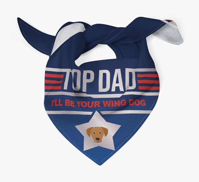 'Top Dad' Bandana with Blue Lacy Icon