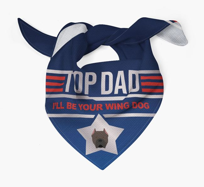 'Top Dad' Bandana with Cane Corso Italiano Icon