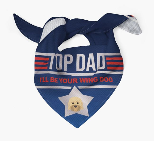 'Top Dad' Bandana with Dandie Dinmont Terrier Icon