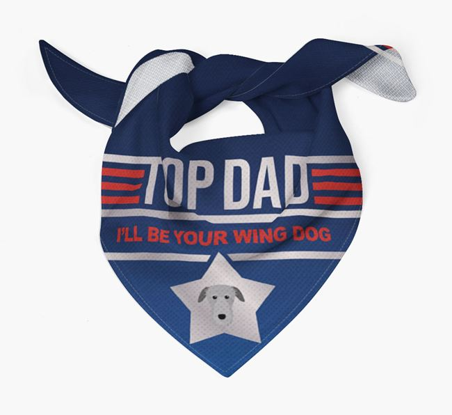 'Top Dad' Bandana with Deerhound Icon
