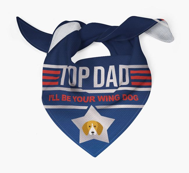 'Top Dad' Bandana with English Coonhound Icon