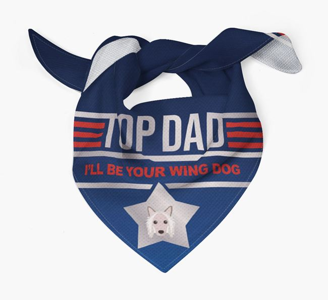 'Top Dad' Bandana with Hairless Chinese Crested Icon