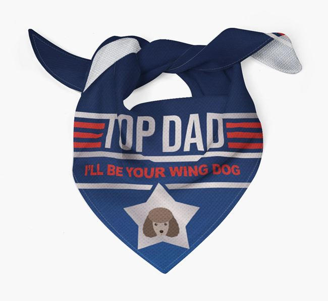 'Top Dad' Bandana with Miniature Poodle Icon