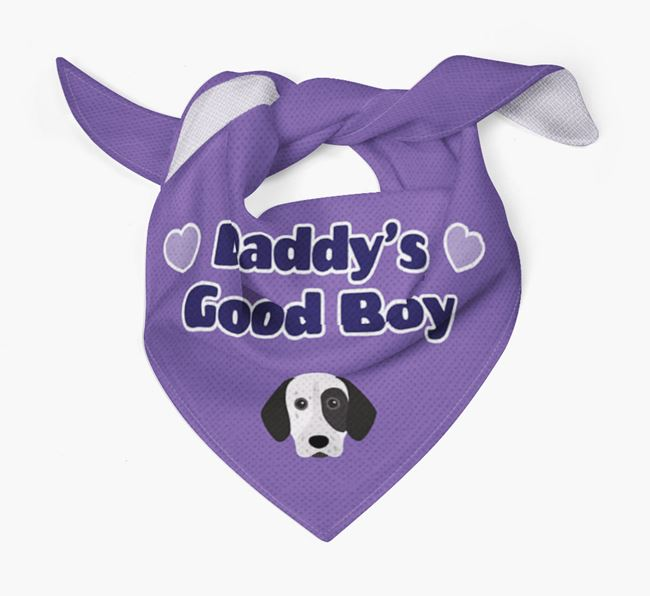 'Daddy's Good Boy' Bandana with German Shorthaired Pointer Icon