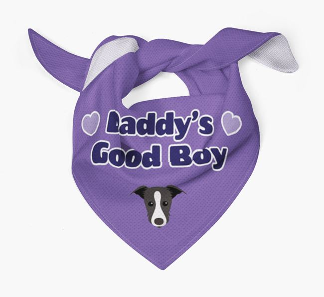 'Daddy's Good Boy' Bandana with Lurcher Icon