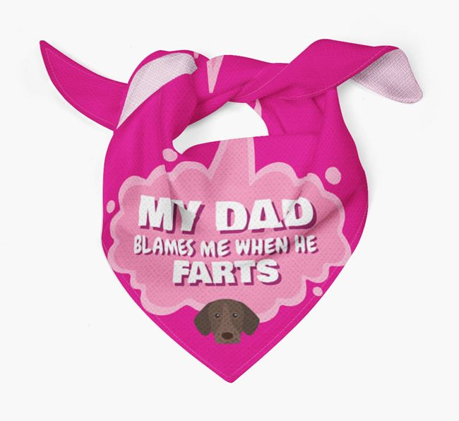 'My Dad blames me when he farts' Bandana with German Shorthaired Pointer Icon