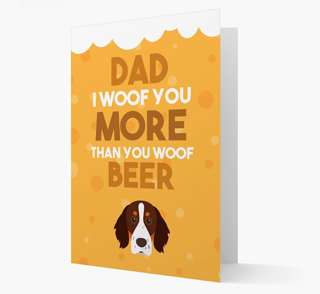 'Woof you more than you woof Beer' Card with Brittany Icon