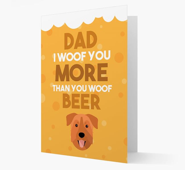 'Woof you more than you woof Beer' Card with Chinook Icon