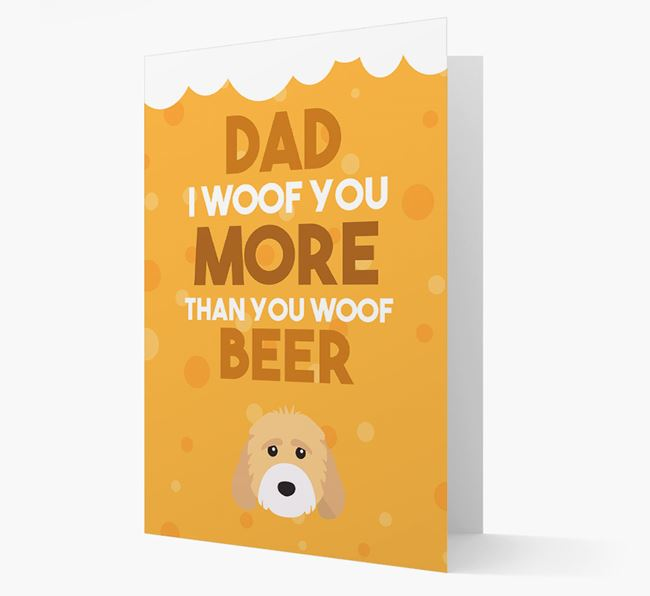 'Woof you more than you woof Beer' Card with Cockapoo Icon