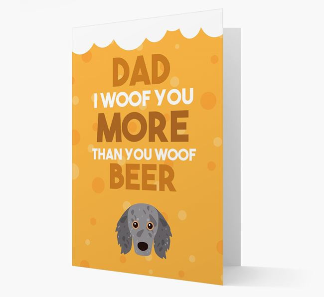 'Woof you more than you woof Beer' Card with Doxiepoo Icon