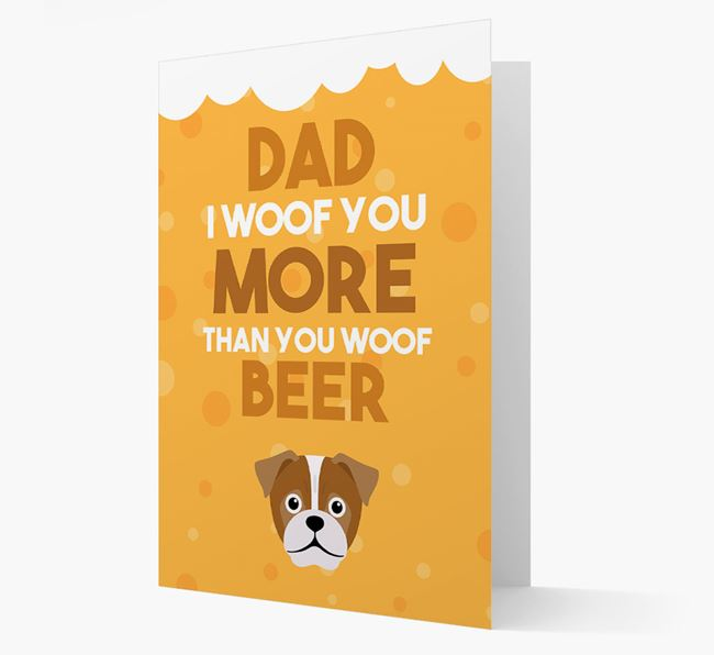 'Woof you more than you woof Beer' Card with Jug Icon