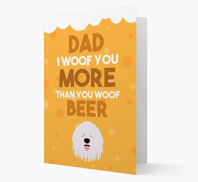 'Woof you more than you woof Beer' Card with Komondor Icon