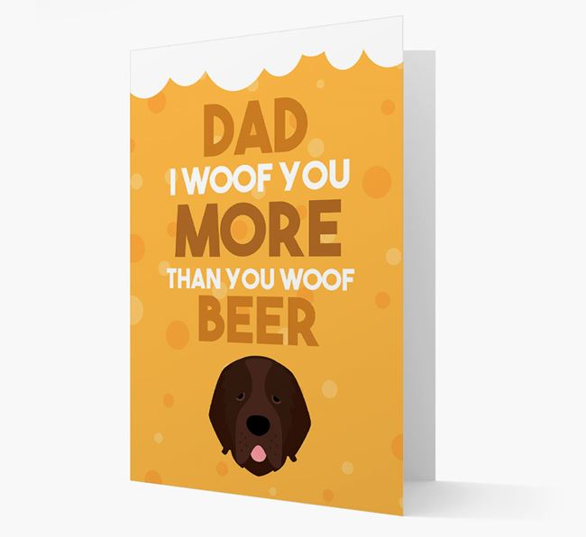 'Woof you more than you woof Beer' Card with Newfoundland Icon