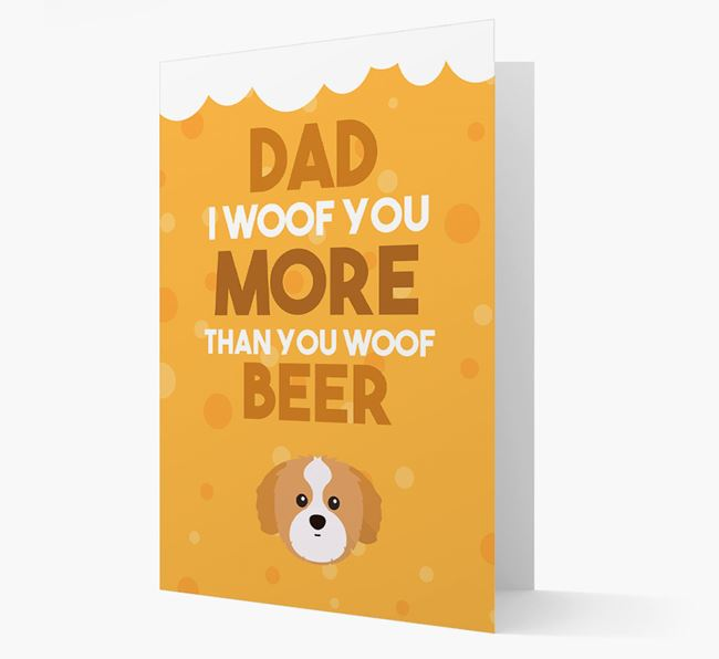 'Woof you more than you woof Beer' Card with Shih Tzu Icon