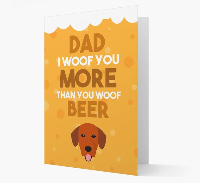 'Woof you more than you woof Beer' Card with Springador Icon
