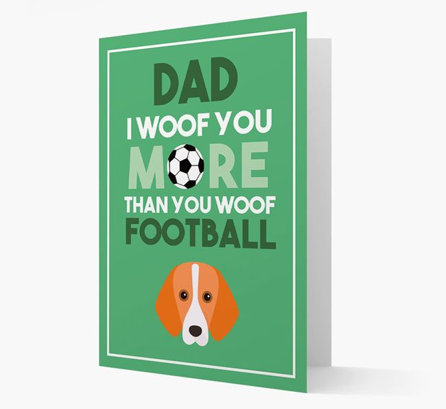 'Woof you more than you woof Football' Card with Foxhound Icon