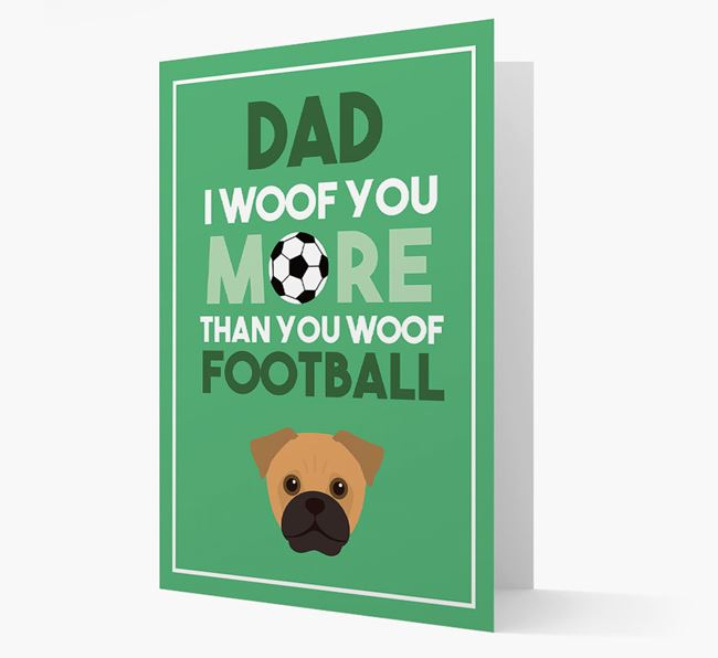 'Woof you more than you woof Football' Card with Jug Icon