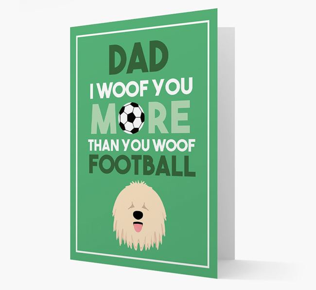 'Woof you more than you woof Football' Card with Komondor Icon