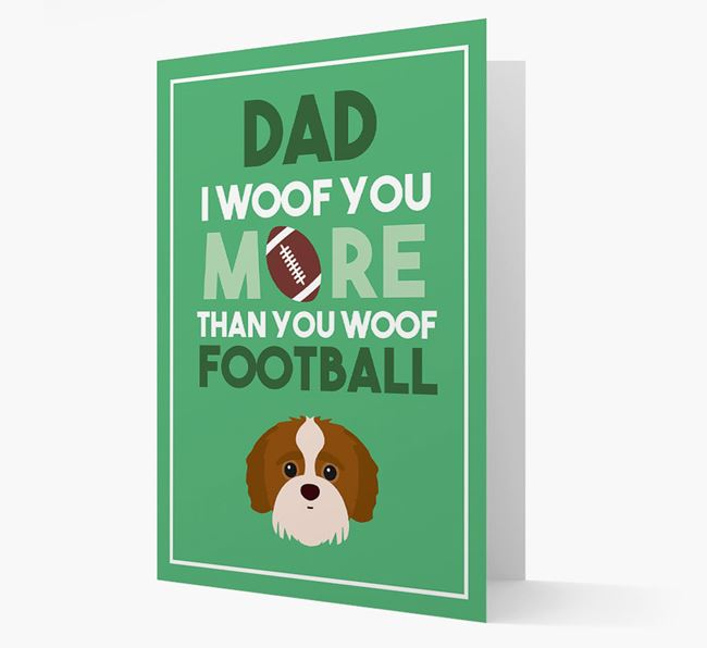 'Woof you more than you woof Football' Card with Jack-A-Poo Icon