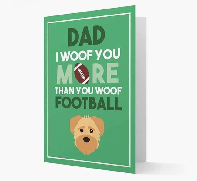 'Woof you more than you woof Football' Card with Schnoodle Icon