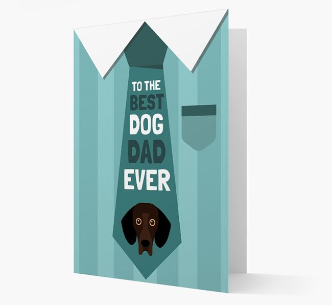 'Best Dog Dad Ever' Suit and Tie Card with Bassador Icon