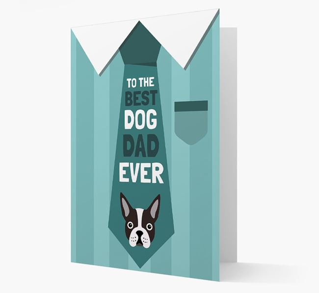'Best Dog Dad Ever' Suit and Tie Card with Dog Icon