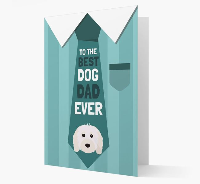 'Best Dog Dad Ever' Suit and Tie Card with Cavapoo Icon