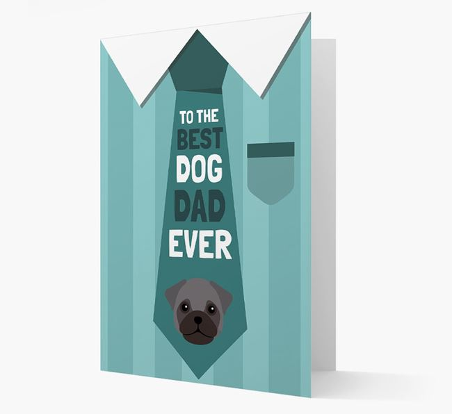 'Best Dog Dad Ever' Suit and Tie Card with Frug Icon
