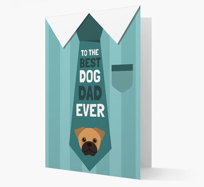'Best Dog Dad Ever' Suit and Tie Card with Jug Icon