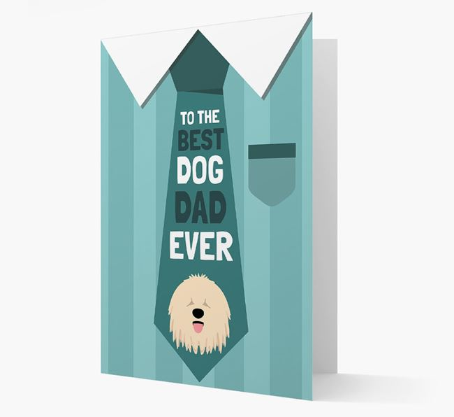 'Best Dog Dad Ever' Suit and Tie Card with Komondor Icon