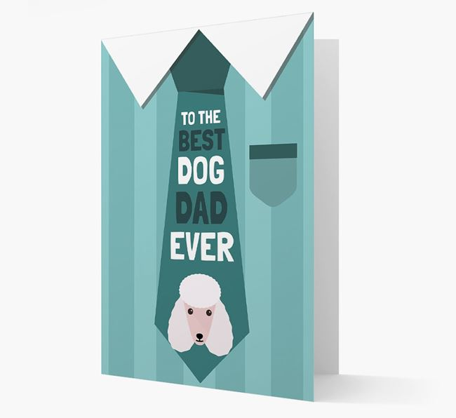 'Best Dog Dad Ever' Suit and Tie Card with Poodle Icon