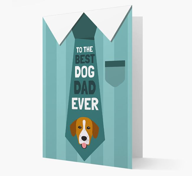 'Best Dog Dad Ever' Suit and Tie Card with Springador Icon