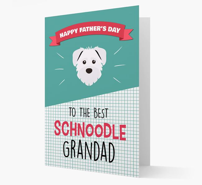 'Best Schnoodle Grandad' Card with Schnoodle Icon