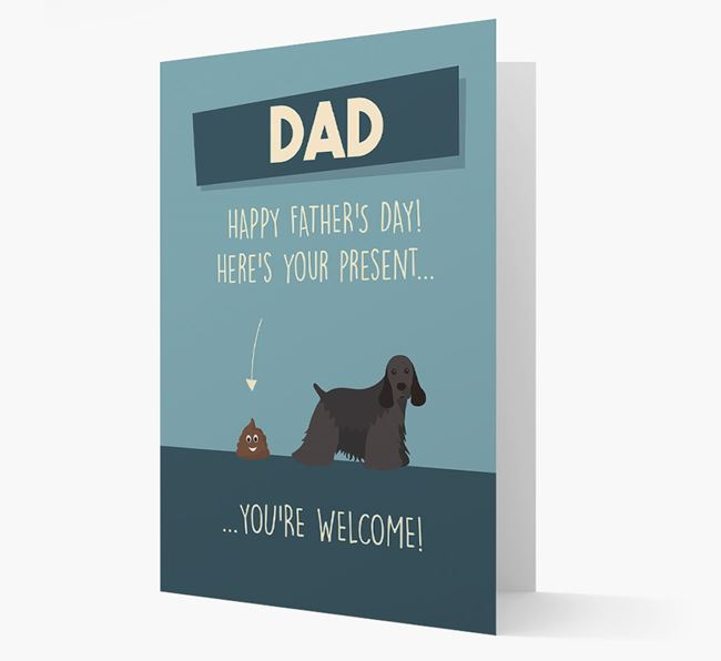 'Dad, here's your present...' Card for American Cocker Spaniel Dad
