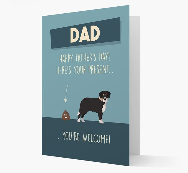 'Dad, here's your present...' Card for Siberian Cocker Dad